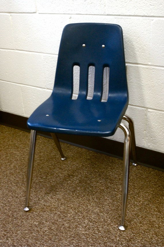 Retro Molded Plastic Stacking Child S Chair By