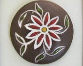 Ceramic Cabochon - Etsy - 028 - Paisley Flower
