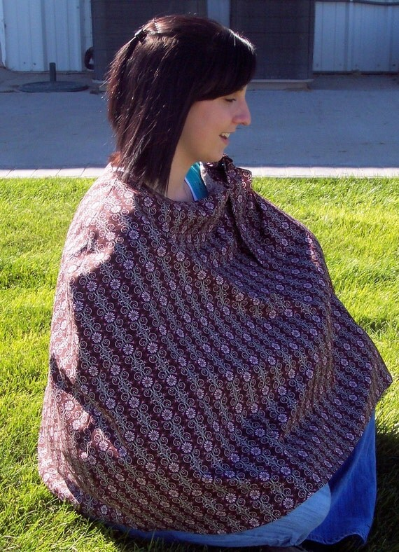 nursing cover brown ready to ship