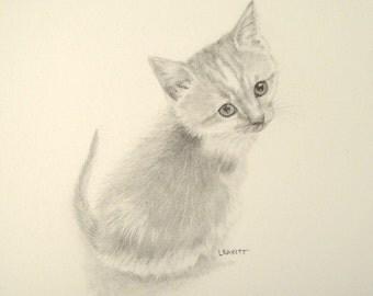 Miniature Drawing Kitten