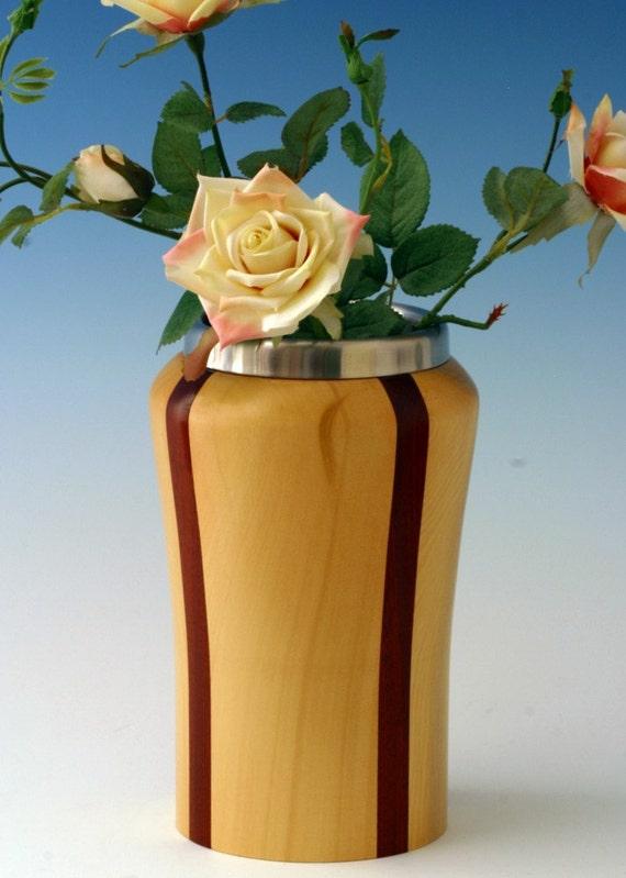 Alaskan Yellow Cedar and Bloodwood Wine Server/ Flower Vase