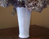 Milk Glass Anchor Hocking Tear Drop Vase