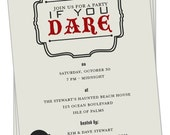 PRINTABLE - Halloween Party Invitation (Party Dare)
