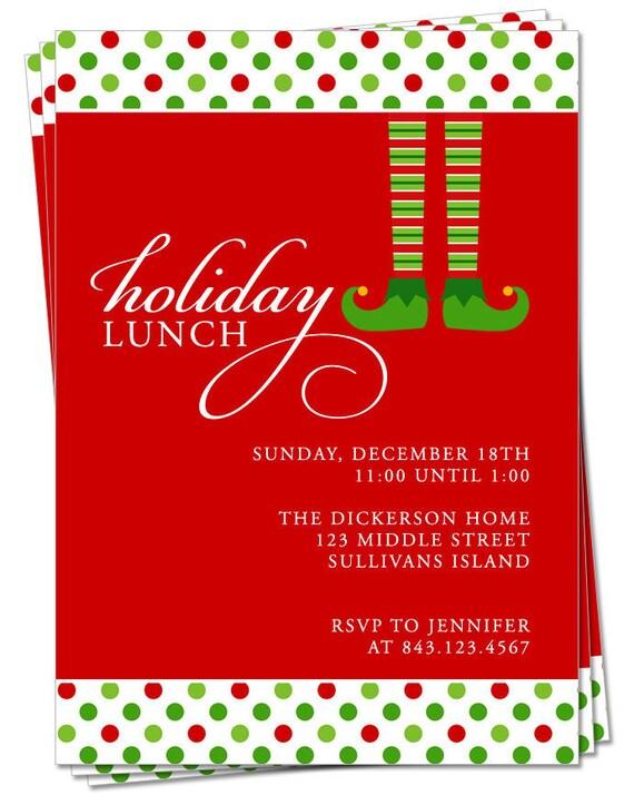 Items similar to PRINTABLE - Christmas Party Invitation ...