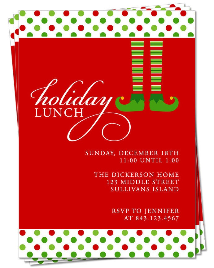 Christmas Lunch Invitation Cards. Christmas Lunch Invitations ...