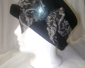 Ladies' Black Cashmere Hat