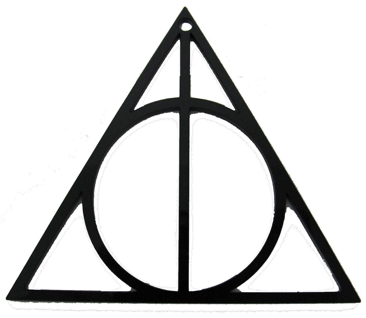 Black Deathly Hallows Symbol Acrylic Plexiglas Pendent 2