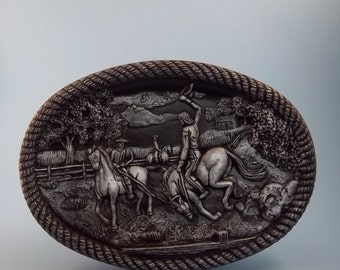 Cow Boy oval plaque