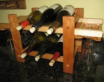 Counter Top Wine Rack in choice of woods