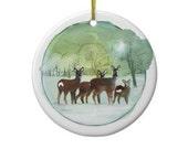 Winter Deer - Ornament