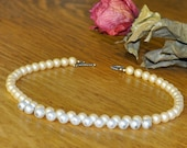 Vintage Pearls and Sterling Silver Necklace