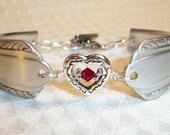 January Birthstone Silver Spoon Bracelet FREE SHIPPING
