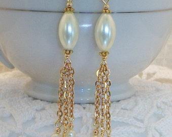 Bridal Chain Waterfall Earrings FREE SHIPPING Style BG24