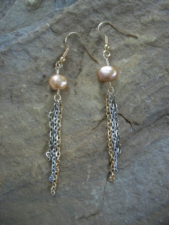 SALE Gold Chain Earrings FREE SHIPPING