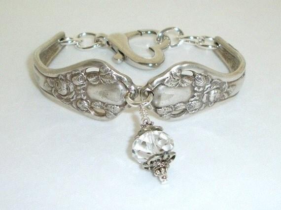 FREE SHIPPING Vintage Silver Spoons Bracelet