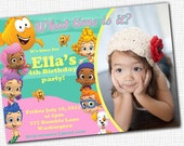 Bubble Guppies - PHOTO invitation - Printable
