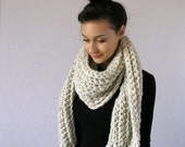 The Bourges w/ Fringe, Chunky Scarf - Wheat