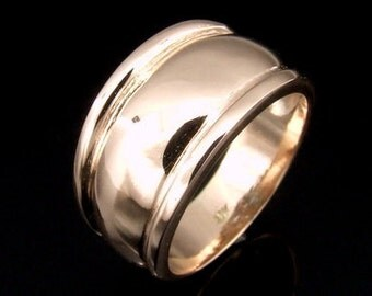 9CTPRK-006 Solid 9ct 9k rose gold band ring