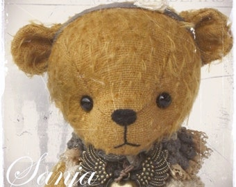 stuffed bear pattern PDF Sanja 6.25 inch artist bear Instant Download Teddy