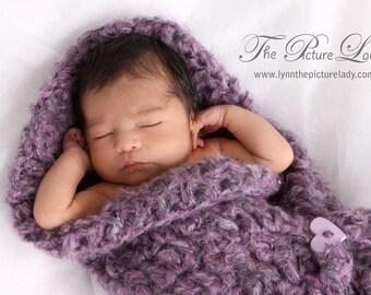 Sweetheart Comfy Cocoon Crochet Newborn Baby Photo Prop