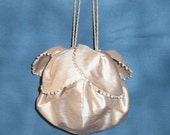 Blush Silk Dupioni Reproduction Bridal Reticule Purse