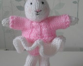 Knitted Bunny Rabbit. Belinda Ballerina