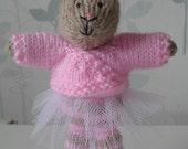 Pippa Bunny Knitted Rabbit Ballerina