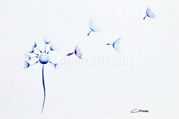 Flighty Dandy, Dandelion Series No.4 - Original Watercolour