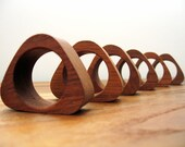 Set of 6 Danish Modern Teak Napkin Rings