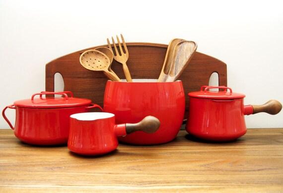 DANSK Kobenstyle Red Enamel Pot Collection