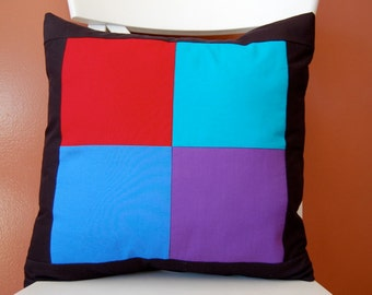 SALE, Amish Style Squares Pillow, Modern, Traditional