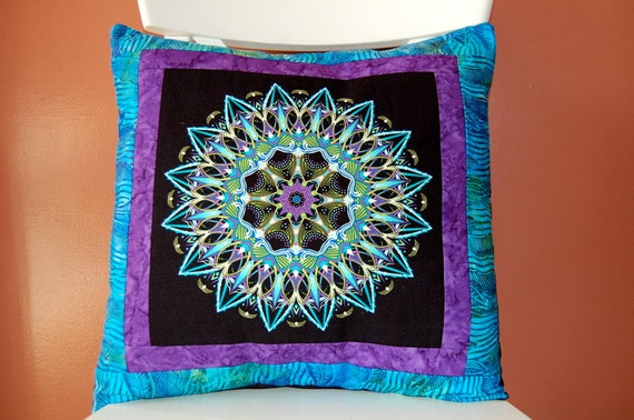 RESERVED, Kaleidoscope Pillow Collection, Batik Pillow, Blue and Purple