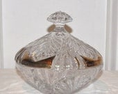 Etched Crystal Candy Dish