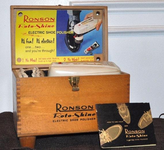 Ronson Roto-Shine Electric Shoe Polisher 1960's
