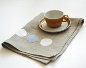 Natural Modern Dot Tea Towel - manusmade