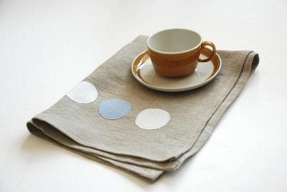 Natural Modern Dot Tea Towel