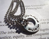 UU Necklace - Stainless Steel Washer - UU Chalice