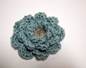Flower Lapel Pin/ Scarf Pin /  Crocheted