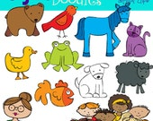 INSTANT DOWNLOAD Bear and Friends Digital clip art