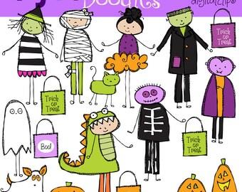 KPM  Trick Or Treat Kids Digital Clip art