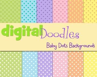 KPM baby dots digital paper pack