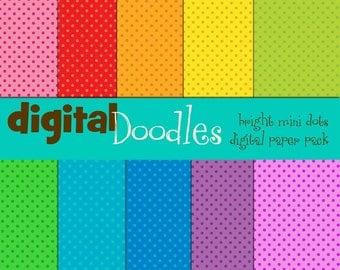 KPM Mini Dots Brights Digital paper pack