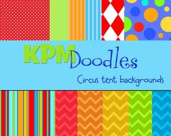 KPM CIrcus Tent Digital Paper Pack