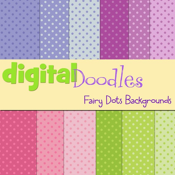 KPM fairy dots digital paper pack