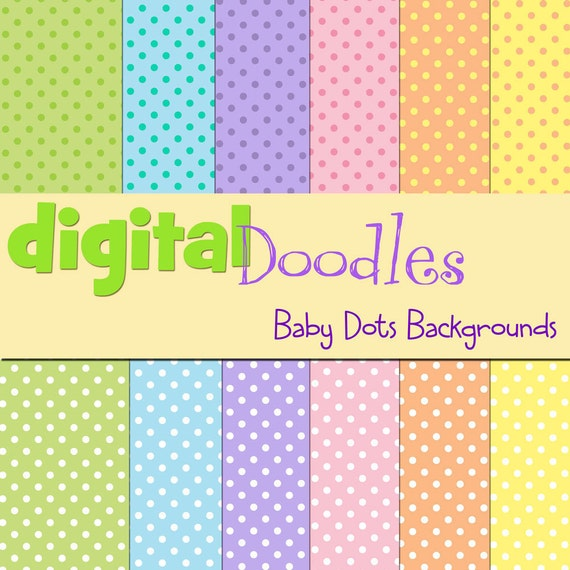 KPM baby dots digital paper pack