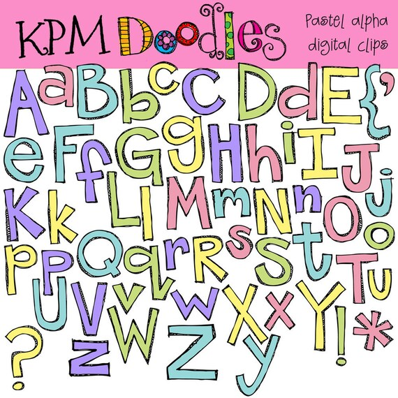 KPM Pastel Alpha Digital Clip art