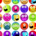 KPM digital collage sheet monsters one inch circles