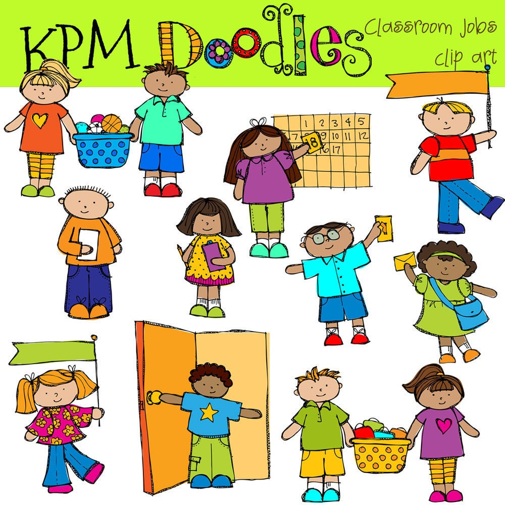 kindergarten clipart classroom jobs - photo #18