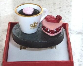 Food Ring - Coffee and Cake Ring Japanese Kawaii