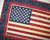 Americana Wall Hanging or Table Topper Quilted